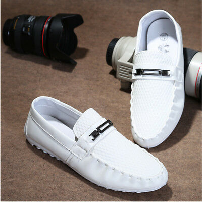Men's Driving Breathable Leather Casual Loafers Flat Moccasin Slip On Boat Shoes