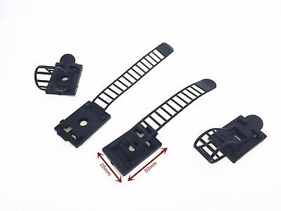 NEW 10x Reusable Adhesive Data Cord Clip Tie Cable Mount Wire Wrap Holder