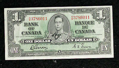 1937 Bank of Canada $1 Banknote - Gordon Towers