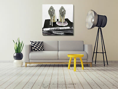 Fashion High Heels Stretched Canvas Print Framed Wall Art Hanging Office Decor