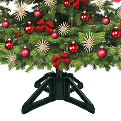 True 4 Leg Real Christmas Tree Stand Water Reservoir for Trees 6ft - 8ft, Green