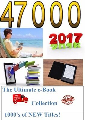 47000 KINDLE BOOKS + Conversion software Bang Up To Date! The Best! 6 X DVDs