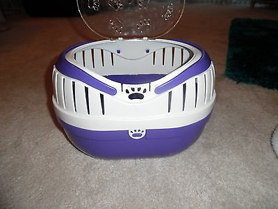 Happy Pet Small Animal Transportation Carrier Purple Medium