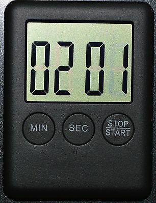 Square Large LCD Digital Kitchen Timer Cooking Alarm with Magnet Black #24