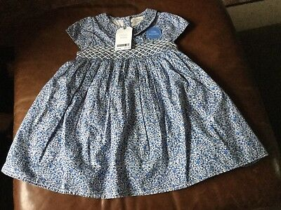 BNWT Next Girls Baby Dress With Matching Knickers Size 12/18 Months