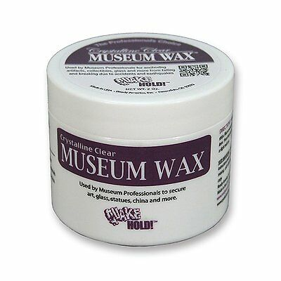 NEW - Quake Hold! - 2 oz. Crystalline Clear Museum Wax - FREE SHIPPING