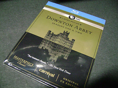 Downton Abbey Seasons One & Two (Blu-ray 5-DISC) Limited Edition PBS  NEW