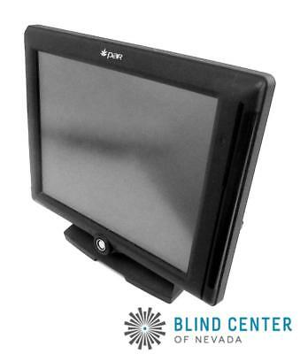 """PAR Agilysys M8150-02 15"""" Point of Sale Terminal POS Monitor w/ Stand"""