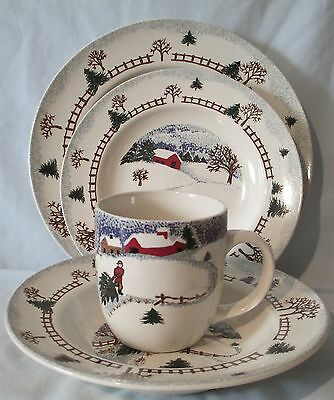 Tienshan Folk Craft Winterside 4 Piece Place setting