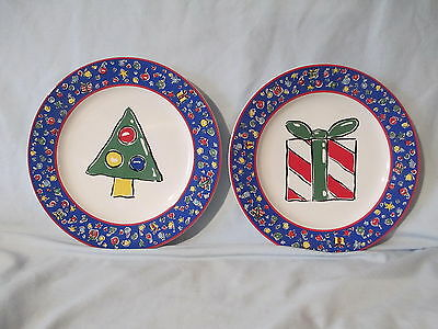 Block Basice Christmas Party Salad Plate set of 2 different