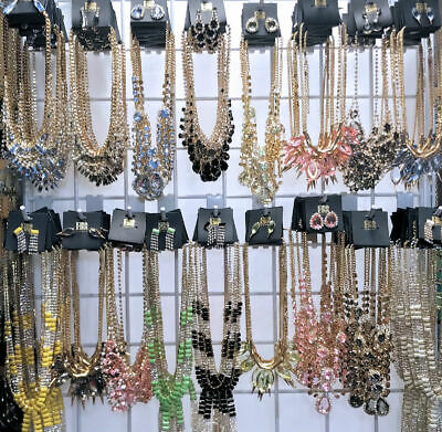 Lot 45 Pcs Statement Fashion Jewelry Necklaces Earrings Bracelets Sets NEW Tags
