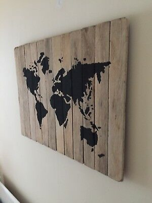 Wooden Wall Art World Map / picture / painting / Christmas gift