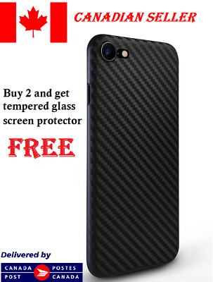 Luxury Slim Ultra Thin Carbon Fiber Pattern Skin Case Cover For iPhone 7 / 8