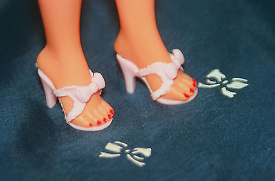 """PINK BOW SHOES for Little Miss Revlon Jill 10"""" Dolls BIG Shipping Discounts!"""