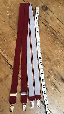 Vintage Late 20Th C  Classic Mens Suspenders - Braces