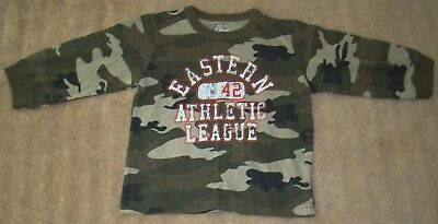 Boys Size 24 Months Children's Place Long Sleeve Camo T-Shirt Nwt