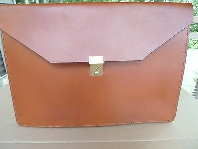 Peal & Co Ltd-Made @ England For Brooks Brothers-Leather Document Case/portfolio