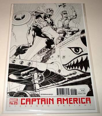 CAPTAIN AMERICA # 25 Marvel Comic  Oct 2017 NM  JIM STERANKO VARIANT COVER