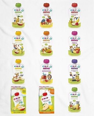 HiPP Apple/Banana/Pear/Kiwi/Carrot/Mango/Raspberry and More Tastes Puree Pouch