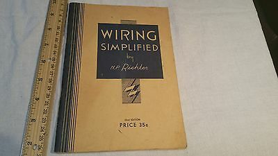 Vintage 1951 Wiring Simplified by HP Richter 22nd Edition