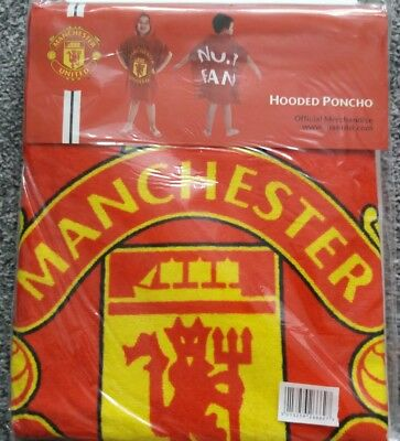 Manchester United FC Poncho (KIDS TOWEL WITH HOOD...SEE PICS) Bargain price