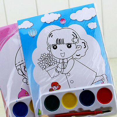 DIY Watercolor Painting Set 4 Colors Children Drawing Toy Kids Educational HC