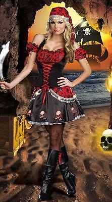New Sexy Halloween Pirate Ladies Fancy Dress Womens Adult Costume Outfit Cosplay