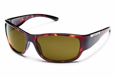 Suncloud Convoy Polarized Sunglass with Polycarbonate Lens, Tortoise Frame/Brown