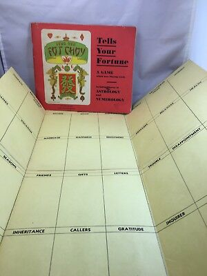 1948 GONG HEE FOT CHOY Astrology Numerology Game Tells Your Fortune M. Ward