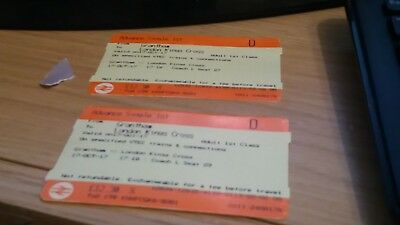 GRANTHAM TO LONDON 1ST CLASS VIRGIN TRAINS departure 1718 arrival at 1830