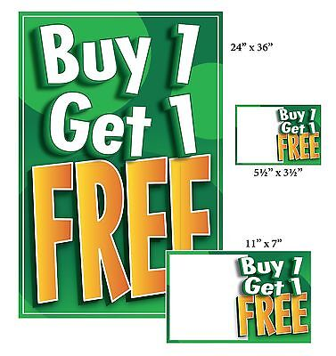 BOGO / Buy 1 Get 1 Free Sale Sign Kit, 104 Pieces: Posters, Price Signs, Blanks