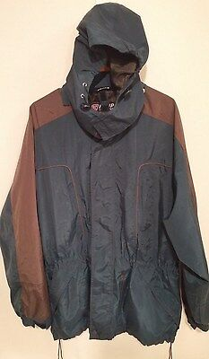 Men's Kenpo Winter Coat Jacket Parka Blue/Greeen hooded - Sz Large L