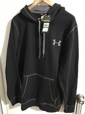 Under Armour Men's Black Loose Fit Cold Gear Storm Hoodie size Large