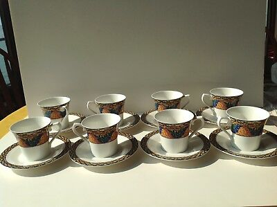 Mikasa Sao Paulo Set Of 8 Cups And Saucers Excellent Condition