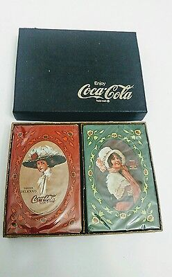 Vintage 1977 Antique Coca Cola Advertisement Playing Card Set NEW IN BOX