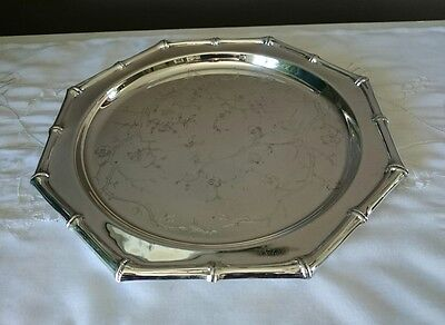 B.W Made In Canada Silver Plated Octagon Serving Tray