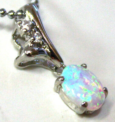 GIA Certificate Natural Crystal Opal Pendant With Solid Silver Opal Size 8x6m