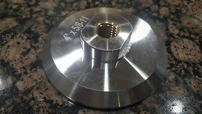 "4"" Aluminum backer pad 5/8-11 thread for diamond polishing pads"