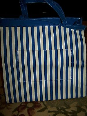 Bath And Body Works Beach Tote Bag Blue White Perfect For Beach Pool