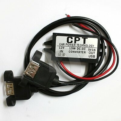 DC 12V to 5V 3A Power Converter Modulwith Dual USB Output For Car Boat