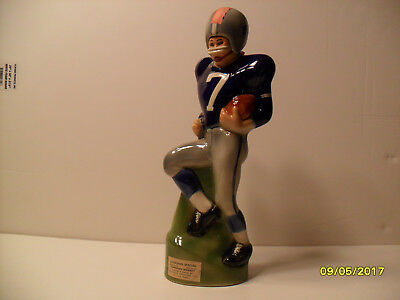 Paul Lux Football Player Kansas Jayhawk Colors No. 7 Decanter