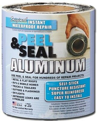 Peel and Seal Instant Waterproof Repairs Aluminum Roll Flashing 6-in x 25-ft