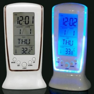 Hot Digital Backlight LED Display Table Alarm Clock Snooze Thermometer Calendar