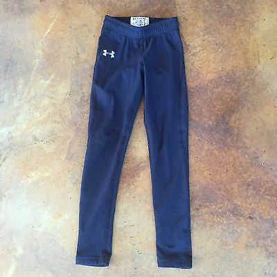 Kid's UNDER ARMOUR Black Fitted Leggings Pants Sz Youth Small YSM Athletic Wear