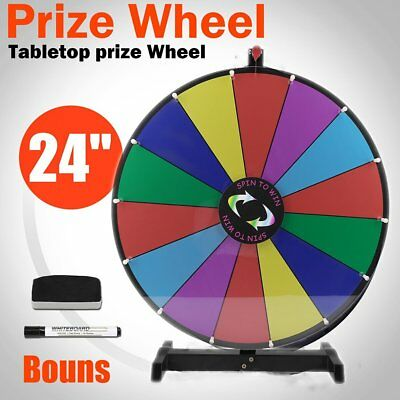 """USA Upgraded Editable 24"""" Color Prize Wheel Fortune Tabletop Spinning Game VI"""