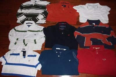 Lot Of 9 American Eagle Adult Mens Polo Shirts Hollister Aeropostale All Size Xs