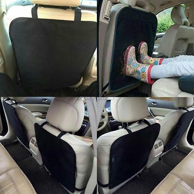 Heavy Duty Kick Mats, Black (2 Pack) - Best Car Seat Back Protector, Reversible