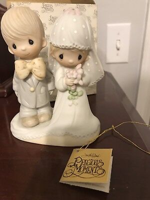 Precious Moments The Lord Bless You And Keep You Bride/Groom 1979 In Box E3114