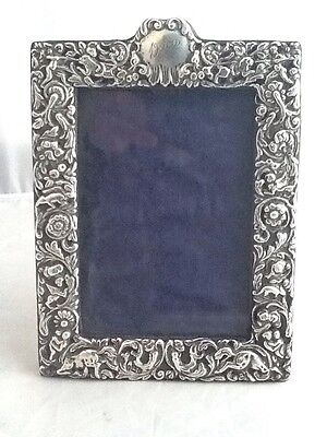 Stunning Medium Sized Rococo Mythical Silver Photo Picture Frame - London 1901