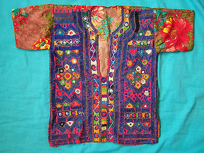 Vintage hand-embroidered childs Gujarat/Rajasthani top. unisex